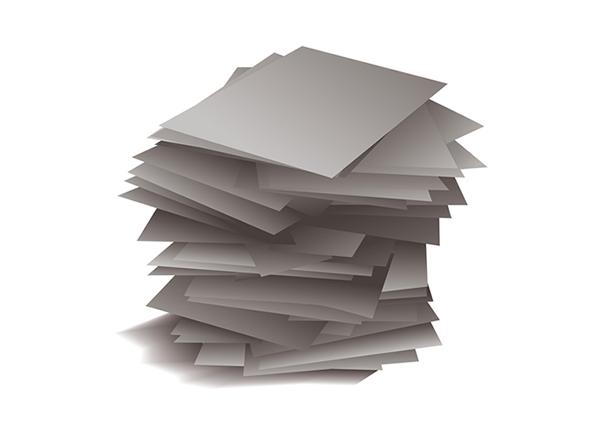 山積みの書類のイラスト