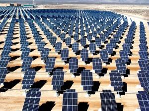 太陽光発電パネルの写真